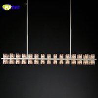 FUMAT moderne lustres d'éclairage linéaire Arcachon Lampe suspendue style simple vitesse luminaire pour salle à manger Salon