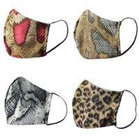 Masques personnalisés visage Leopard Serpentine Mode coton lavables respirateurs réutilisables Spots serpent Skins Smog Preuve Mascarilla respiration 4DJ C2