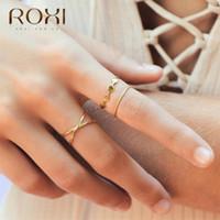 ROXI Art und Weise 925 Sterlingsilber-Ringe für Frauen höhlen Querringe Unendlich justierbare antike Ringe Anillos Korean Schmuck