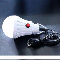 7W 12W светодиодные лампы Открытый аварийного освещения USB Charge Мобильный блок питания для зарядки палатки кемпинга Лампочки с выключателем