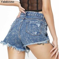 2020 Tassel Hole Sexy Denim Shorts Women Girls Summer High W...