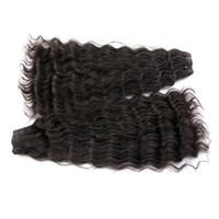 """Оформление супер двойной нарисованной натуральной глубокой волны бразильские девственницы человеческие пакеты волос 2 парс необработанный натуральный цвет 18 """"Доступно"""