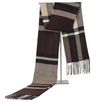 Foulard pour hommes écharpes longs écharpes écharpes vêtements accessoires châle Vérifier la grille de mode foulard d'hiver d'hiver Automne loisir Crousillement chaud