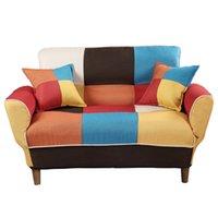 Waco New Sleeper Lazy Sofá, Dormitorio Moderno Ajustable Ajustable Brazo Redondo Cecha Sólido Piernas Sofá Queen Sofá Muebles de interior Colorido