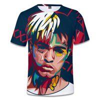 Męskie Koszulki T Shirt Men / Women Moda Streetwear Top Przyjazd XXXTAcion 3D Hip Hop Style Raper Drukuj