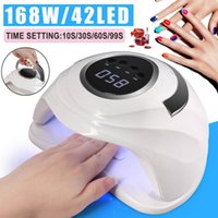 168W 42LED ультрафиолетового света LED ногтей Сушилка UVLED гель для ногтей Лампа Арочные Shaped Лампы для Art Идеальный Thumb сушки раствора