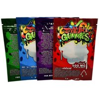 Colorful Dank Gummies 500mg Maylar Bag Dank Gummies Zipper B...