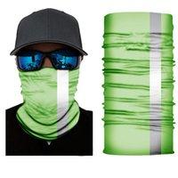 US-Aktien Reflectiv Magie Turban Bandanas 50cm Gesichtsmasken Skeleton Außen Fluorescence Halstücher Stirnband Fahrrad Motorrad-Verpackungs-FY7138