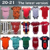2020 2021 طفل كرة القدم الفانيلة 6 إلى 18 أشهر قمصان كرة القدم كرة الرضع مجموعات فرقة ارتداءها الزحف الملابس mailleots فوتبول أعلى جودة