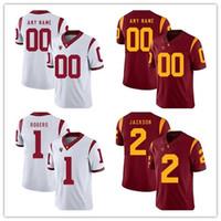 Personalizado USC Trojans Men's College Futebol Jersey Sam Darnold Polamalu Personalizado Costura Qualquer Nome Número Bordado Jerseys S-4XL