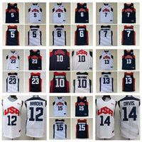 Basketball 2012 Team USA Jersey Kevin 5 Durant Lebron 6 James 12 Harden Russell 7 Westbrook Chris 13 Paul Deron 8 Williams Anthony 23 Davis