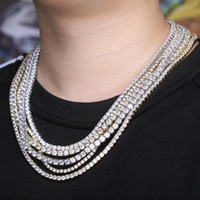 18K Gold Plated 3mm 16- 24 inch Full Diamond Tennis Chain Nec...