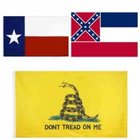 90 * 150cm وأعلام ميسيسيبي دولة العلم السيدة دولة العلم ولاية تكساس أعلام غادسدن الولايات المتحدة البوليستر راية أعلام CYZ2548 100pcs التي