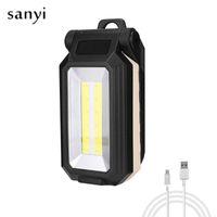 Lanternes portables USB Rechargeable LED Camping Lanterne Lampe de travail super brillant Lampe d'inspection de la lumière intégrée à la batterie Aimant