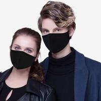 مصمم الوجه قناع الأزياء لينة المضادة للغبار أقنعة القطن الفم الفم واقية faceMask رجل امرأة ارتداء أعلى أسود بيع
