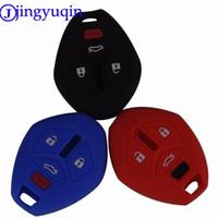 Jingyuqin 4 botões Remote Car Key FOB Capa para Mitsubishi / Eclipse / Galant / Lancer C8YZ #