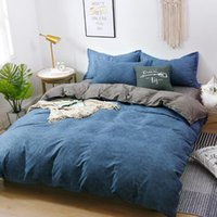 Home Textile Bedding Sets 5 size Blue and gray Summer Bed Li...