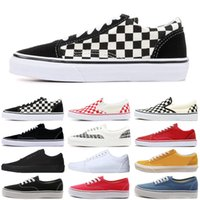 Vans old skool sneakers classic canvas slip on hombres mujeres zapatos casuales white fear of god skate skateboard platform mens trainers