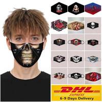 3D Baskılı Pamuk Parti Anime Maskeler Yetişkin Çocuk Komik Yarım Yüz Ağız Kül Yeniden kullanılabilir Anti Toz Windproof Yıkanabilir kulak askısı Maske FY00650 Maske