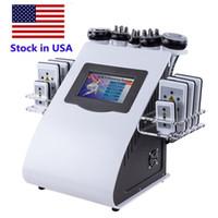 미국 핫 판매 40K 공동 현상 초음파 다극 RF 레이저 바디 슬리밍 기계 체중 감소 피부의 재고 무료화물 주름 방지를 조