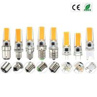 100PCS / LOT Dimmable LED G4 G8 G9 BA15D E12 E14 E17 220V 110V Мини лампы Силиконовые Кристалл Свет Люстра Галогенные прожектор Швейные машины