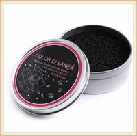 Cepillo del maquillaje de lavado de limpieza artefacto esponja seca cambio de color más limpio Mat Lavado caja de hierro herramienta de limpieza de la mano del cojín del lechón de la Junta depurador Cosméticos