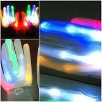 Halloween service de gants d'hiver froid Gants chaud Led mitaines colorées Effectuer Luminescence Décore Places Divertissement Hommes Femmes 13yk D2