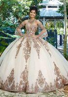 Sweet 16 Pembe Prenses Quinceanera Modelleri 2020 Uzun Kollu Tül Örgün Yarışması Balo Kız vestidos de 15 Anos