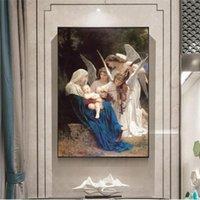 Canto dell'Angelo William Adolphe Ritratto famoso dipinto ad olio su tela Pop Art Poster e Stampe Galleria di opere per Living Room