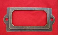 Ev Antik Pirinç Metal Etiket çekin Çerçeve Kabine Çekmece Kutusu Case Dosya Adı Kart Sahibi Kabine Çekmece Kutusu Kasa