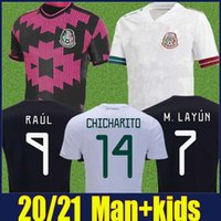 2020 Mexique maillot de foot pour adultes kit enfants copa Amérique RAUL chemises de football chicharito M.LAYUN G.DOS SANTOS C.VELA Camiseta de Mexico 20/21