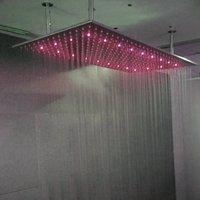 الخيالة جديد 600x800 سوبر كبير الحجم LED دش مطر رئيس سقف ناعم / مرآة الإفراط في رأس دش البخاخ
