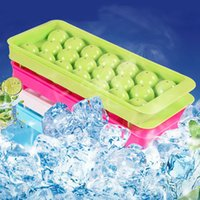 قالب من البلاستيك علبة مكعبات الثلج 1PC 20 ثقوب شعرية جولة كرات الثلج جعل صندوق الرئيسية الإبداعية الجليد شعرية مطبخ مستلزمات IIA253