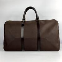 Sport Grande grande capacità classica bagaglio bagagli borse da viaggio borse da viaggio keeptall genuino borsa da uomo borse femminile 55 cm donne borse in pelle da donna HKCP