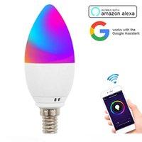 스마트 LED 촛불 전구 와이파이 5W E12 E14 E26 E27 APP 원격 제어 알렉사 에코 Google 홈 스마트 디 밍이 가능한 스마트 주도 밤 전구