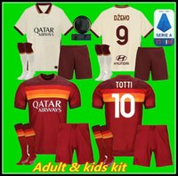 nouvelle pour adultes enfants 20 21 ROMA jersey de football à domicile 2020 2021 AS PASTORE DZEKO Zaniolo EL Shaarawy ROME FOOTBALL
