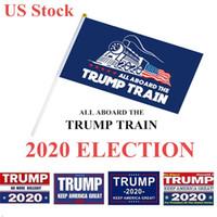 Elezione Trump Bandiere 14 * 21 cm poliestere stampato Trump Flag Keep America Great Again Presidente Banner Campaign DHL BWC596