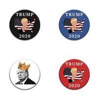Trump Placa Presidente de Votación 2020 Flags America Nacionales insignias broche corona circular Muti color parachoques Chest 1 35md C2