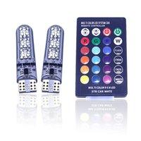 T10 LED-Licht-Auto-Innen Atmosphäre Licht Fernbedienung RGB Fahrzeug Lese Birnen dekorative Lampe Auto-Leuchten Zubehör