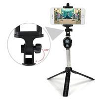 Mini selfie bâton monopode Bluetooth Trépied pliable avec télécommande sans fil pour Smartphone Shutter avec Retail Box
