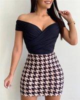 Yaz Katı Derin V yaka Tulum Kadın Moda Kulübü Casual Giyim Kadın Seksi Çapraz Tulumlar Woman katlayın