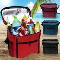 식사 팩 가족 야외 피크닉 가방을 사용하여 보관 신선한 옥스포드 천 아이스 팩 테이크 아웃 컨테이너 절연 보관 가방 DH0481 음료