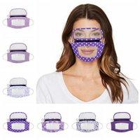 2 em 1 Lips transparentes máscara facial com protetor facial removível protetor de olho visível Dustproof Protective PET surdo-mudo Máscaras Designer RRA3344