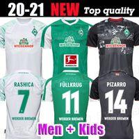 20 21 Werder Bremen Accueil Tratième Chemise 2020 2021 Junior Sportverein Soccer Jerseys Pizarro Osako Harnik Kruse Rashica T-shirt de football