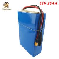 E Scooter Batterie 52V 25Ah électrique au lithium ion Citycoco bloc de piles avec 40A BMS, 4A Chargeur pour 1500W 1000W TSDZ2 moteur