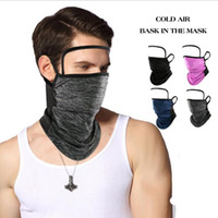 Bandanas Magic Scarf with Transparent Eye Shield Outdoor Cycling Face Masks Washable Reusable Dustproof Sunscreen Hanging Ear Mask YYA316