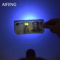 Фонарические фонарики AIFENG Professional 365nm УФ-светодиодный аккумулятор для проверки маркера Обнаружение Сенсорный Voilet Purple Light Light