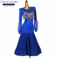무대 착용 우아한 클래식 볼룸 댄스 드레스 여성 춤 의류 경쟁 표준 드레스 Waltz Foxtrot