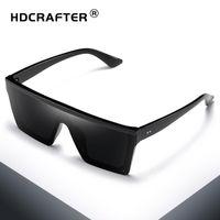 HDCRAFTER Praça Retro Sunglasses Flat Top Design Homens Sunglasses Driving exterior Desporto Sun GlassDR27
