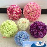 11 pollici palla nozze ortensia artificiale fiore puntaspilli nozze kissing paramenti supermercato deoration palla FB009